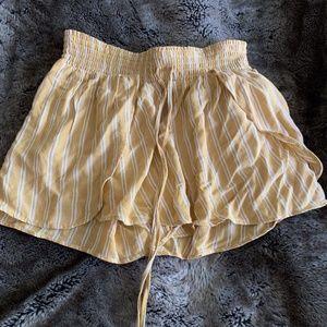 Yellow Flowy Shorts